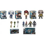POP Funko Ready Player One: Parzival + Art3mis + Aech + Copper Key + Jade Key + Crystal Key + 4 Collectible Action Figures - Stylized Vinyl Figure Collectibles Bundle Set New