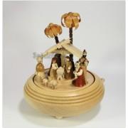 Spieldosen Erzgebirge Erzgebirgische Spieldose Christi Geburt II natur mit Spieluhr