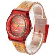 Disney Rood Disney Cars analoog horloge voor jongens