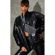 PRETTYLITTLETHING - Sac à bandoulière noir à franges strassées, Noir - One Size
