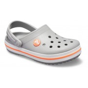 Crocs Crocband™ Klompen Kinder Light Grey / Bright Coral 25