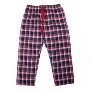 Pantaloni de casa pentru barbati Cargo Bay imprimeu dungi si carouri talie elastica Multicolor
