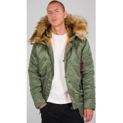 Alpha Industries N3B VF 59 Jacka Grön Brun XL
