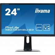 "IIYAMA ProLite XB2483HSU-B3 - LED monitor - 24"" (23.8"" viewable) - 1920 x 1080 Full HD (1080p) - A-MVA - 250 cd/m² - 3000:1"