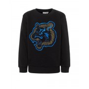 NAME IT Tiger Embroidered Sweatshirt Black