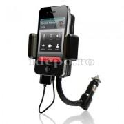 Car kit hands-free cu modulator FM iPhone 4,4S, iPod