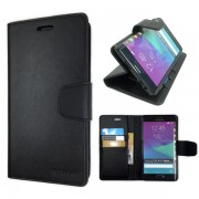 Korean Sonata Wallet Case for Samsung Galaxy Note Edge - Black