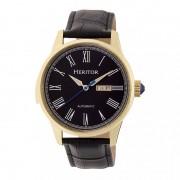 Heritor Automatic Prescott Leather-Band Watch w/ Day/Date - Gold/Black HERHR6703
