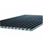 Vario alumínium rács gumi betéttel, 75x50