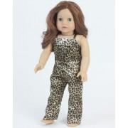 "2 Pc. Doll Pajamas Set, 18 Inch Doll Clothing of Leopard Print Doll Pj's, Fits 18"" American Girl Dolls"