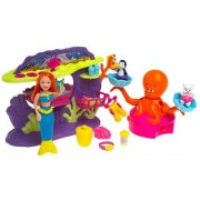 Polly Pocket Mermaid Stars Water Wonderland Playset Octo-Go-Round