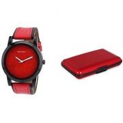 Danzen wrist watch for mens with Red card case -cdz-417