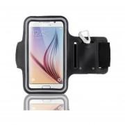 Funda Deportiva De Brazo Gogo Electronics Para Galaxy S6 O S6 EDGE O S7 Para Ejercicio Armband-Negra