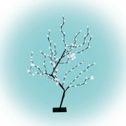 LED-es cseresznyefa dekoráció, 128 LED, 1 m, kültéri