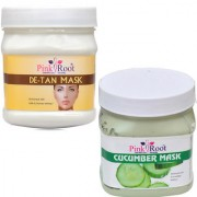 PINK ROOT DE TAN MASK 500GM WITH CUCUMBER MASK 500GM