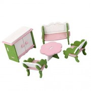 Magideal Dollhouse Miniature Furniture Wooden Toys Kids Living Room Set