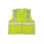 Job Sight ANSI 107Clase 2Malla de poliéster cierre chaleco, V70632-2X-3X, Amarillo/Verde Fluorescente (Fluorescent Yellow/Green), Size 2X-3X