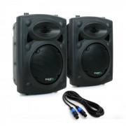 "Ibiza SLK PA-parhögtalare 2x 20CM (8"") Master Slave 600W USB SD MP3"