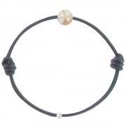 Les Poulettes Bijoux Bracelet La Perle Rose des Poulettes - Classics - Bleu Navy