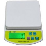 Mezire Compact Scale With Backlight A 10 Kg With Battery Digital Multi-Purpose Kitchen Weighing Scale Weighing Scale (White) Weighing Scale(White)