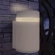 vidaXL Kültéri szürke alumínium fali lámpatest