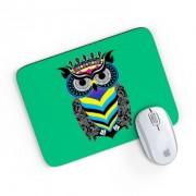 Mouse Pad A Arte da Coruja Verde 24x20