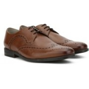 Clarks Amieson Limit Tan Leather Lace Up For Men(Tan)