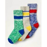 Mini Mehrfarbig Dicke Socken im 3er-Pack Jungen Boden, 27-30, Multi