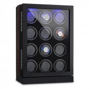KLAGENFURT навиваща витрина за 12 часовника LED тъч дисплей ръчна изработка
