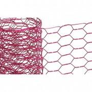Hexagon drótháló fém 30cm x 3m pink