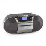 Auna Jetpack Radiocasete portátil USB CD MP3 FM Funcionamiento a pila gris (MG-Jetpack-C)