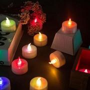 6 db Karácsonyi LED elemes világító teamécses színes