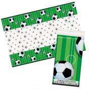 Football Table Cover - Wipe-Clean Table Cloth For Kids Football Birthday Parties. Size 137 x 213cm.