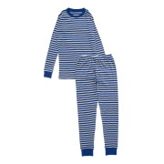 【69%OFF】LONG JOHN プリント パジャマ ブルーxグレーボーダー 4 ベビー用品 > 衣服~~ベビー服