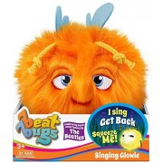 Beat Bugs - SINGING GLOWIE Orange Plush - Soft, Cuddly, and Furry. Sing Get Back from the Beat Bugs Show. Inspired by Music Made Famous by THE BEATLES