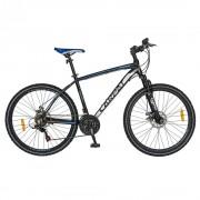 Bicicleta adulti MTB-HT 26 inch CARPAT Wrangler, cadru aluminiu, 21 viteze, culoare negru/albastru