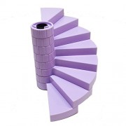 Lego Parts: Queen Dragon's Rescue Staircase Bundle - (1) Black - Support Axle 1 x 1 x 5 1/3 and (8) Lavender - Spiral Steps