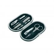 Merkloos 6-delige manicure set in luxe zwarte houder