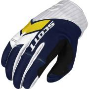 Scott 450 Podium Motokrosové rukavice 2017 XL Modrá žlutá