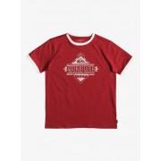 Quiksilver Kuzco Script - Camiseta para Chicos 8-16 - Rojo - Quiksilver