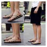 Sandalias De Hombre Flip-flops Zapatos De Playa Chancletas Zapatillas – Beige