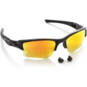 Oakley FLAK JACKET XLJ Round Sunglass(Yellow, Orange)