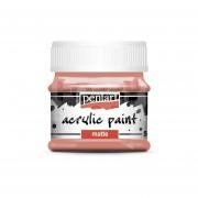 Pentart Matt korall színű akril bázisú hobbi festék 50 ml
