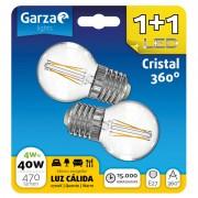 Garza Standard Pack 2 Lâmpadas com Filamento LED 4W E27 Branco Quente