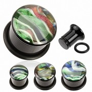 """Piercing Street"" ""Piercing Plug Acrylique Nacre Abalone"""