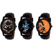 R P S fashion 2018-19 new collation model for combo pack of 3 men watch