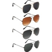 NuVew Aviator Sunglasses(Black, Brown, Green, Grey, Violet)