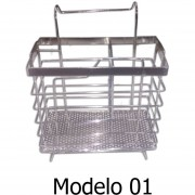 ESCURRIDOR PORTA CUBIERTOS / UTENSILIOS PARA COCINA METALICO MODELO 01
