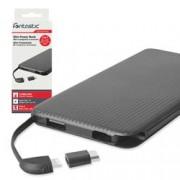 Fontastic Carica Batterie Power Bank Slim 5000mAh 4-in-1 Micro-USB/8-pin/USB-C/USB-A