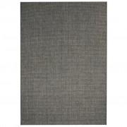 vidaXL sötétszürke, szizál hatású beltéri/kültéri szőnyeg 140 x 200 cm